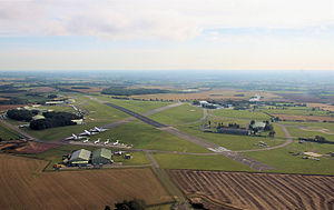 Cotswold Airport - In 2009 Kemble Airport was renamed Cotswold Airport. This view looks east.