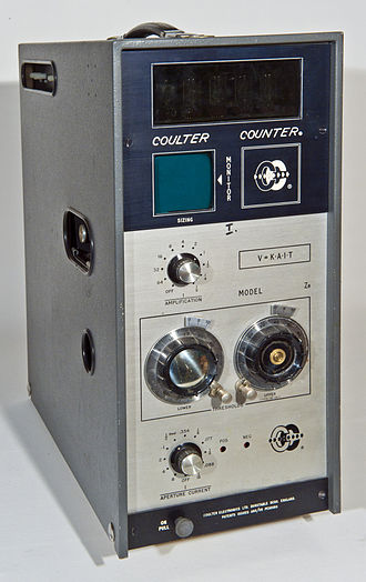 Coulter counter - Coulter Counter manufactured by Coulter Electronics Ltd., England (1960th)