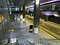 Courthouse station outbound platform from mezzanine, June 2012.JPG