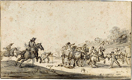Marauders attacking a group of travellers, by Jacques Courtois Courtois.jpg