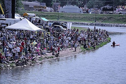 Crooked Creek/Lake Harrison used as the site for Crawdad Days. Crawdad Days Festival Harrison, Arkansas.jpg