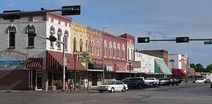 Crete, Nebraska - Downtown Crete: Main Avenue, looking south from 13th Street
