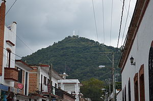 Tenancingo, State of Mexico - View of the Cristo Rey from Casanova Street