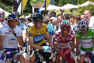 Critérium du Dauphiné - Jersey wearers at the 2011 event