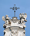 Cross with angels on Santa Croce in Gerusalemme (Rome).jpg