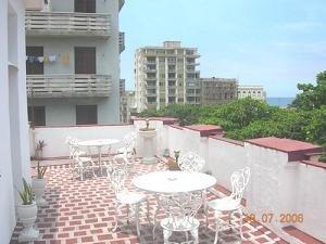 Casa particular - The terrace in a casa particular in Old Havana, Cuba.
