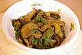 Curried stir-fry of eggplant and bell pepper (2726207565).jpg