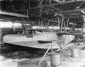 Curtiss Wanamaker Triplane - Partially constructed, 5 July 1916.