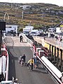 Cyclists embarking at Coll - geograph.org.uk - 1461368.jpg