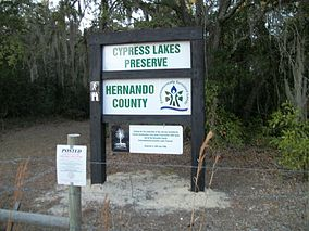 Cypress Lakes Preserve Sign; Ridge Manor Blvd.JPG
