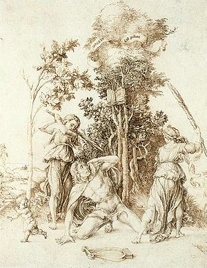 Orpheus - Death of Orpheus, by Dürer (1494)