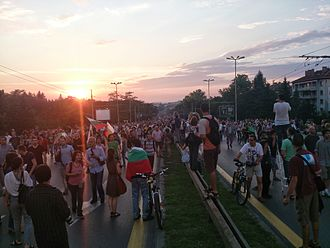 2013–14 Bulgarian protests against the Oresharski cabinet - Protest in Sofia against the Oresharski cabinet, 8 July 2013