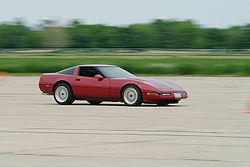 A C4 Corvette competing at an autocross event