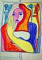 Dagmar Anders - Begegnung mit Henry Matisse 1972, Ölpastell.jpg
