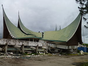 2009 Sumatra earthquakes - Destroyed government building in Padang