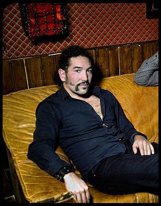Daniel Puente Encina - Daniel Puente Encina, backstage White Trash Club, Berlin (2013).  Photo: Roger Askew