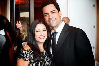 Danny Pino - Pino at the 2014 Imagen Awards with his wife Lilly