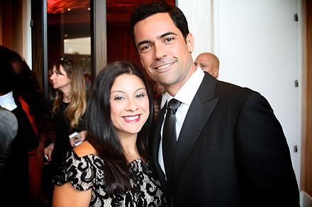 Pino at the 2014 Imagen Awards with his wife Lilly Danny Pino and wife Lilly at 2014 Imagen Awards.jpg