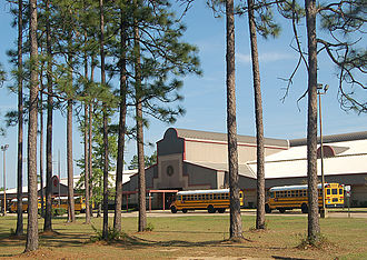 Daphne High School - Daphne High School's main building