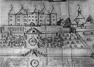 Dardagny Castle - Dardagny Castle in 1860