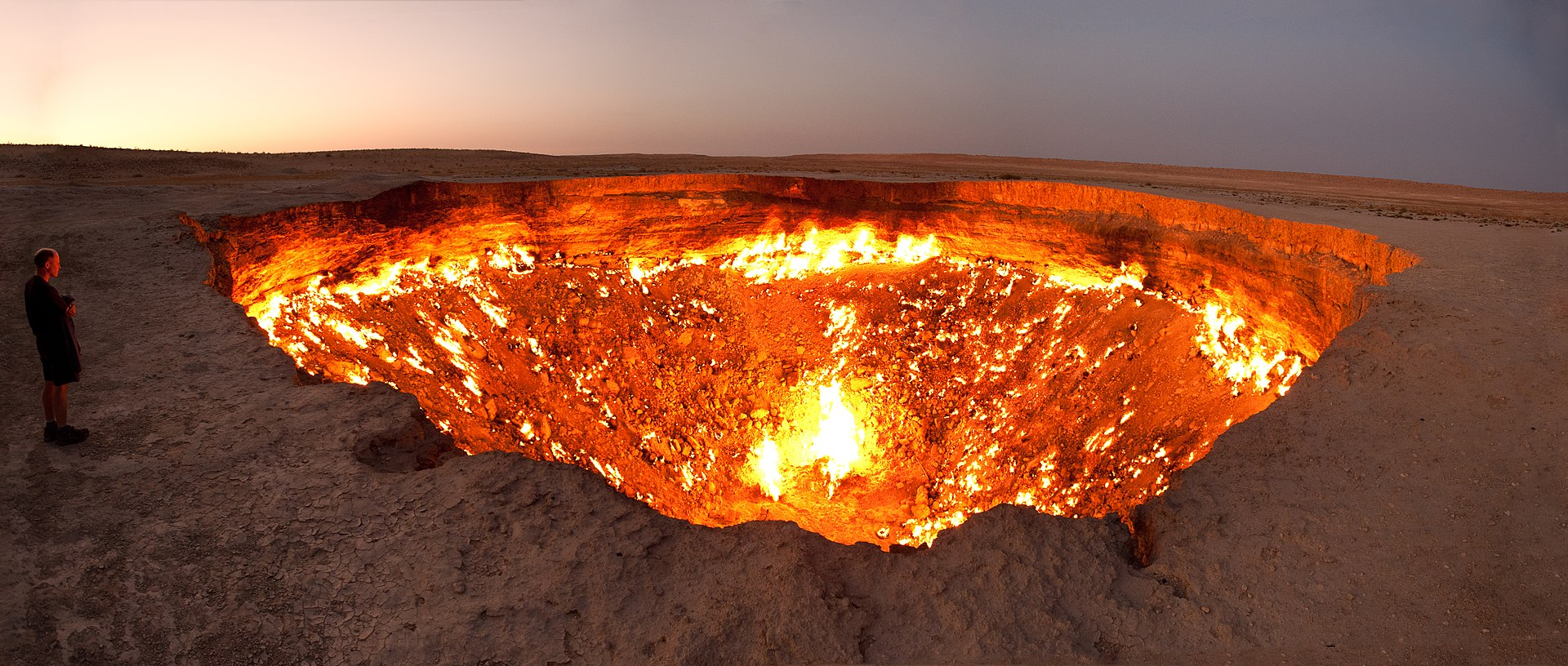 50 éve ég a derwezei gáz kráter