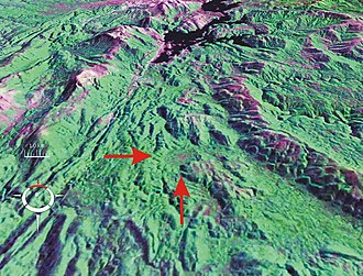 Darwin Crater - Image: Darwin Crater Landsat oblique