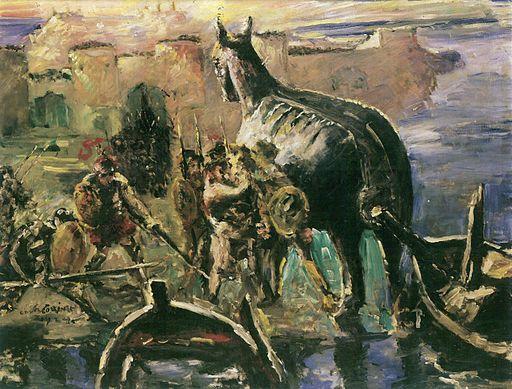 Das Trojanische Pferd - Lovis Corinth