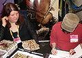 David & Julia Petersen at WonderCon 2009.JPG