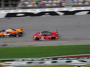 Daytona Prototype - Daytona Prototypes competing at the 2008 24 Hours of Daytona.