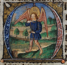 De Grey Hours f.54.r St. Michael the Archangel.png