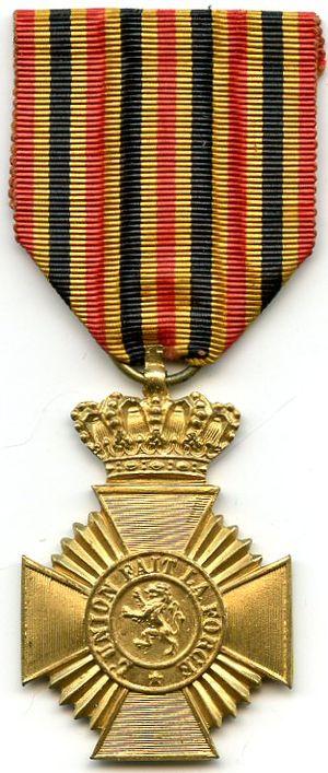 Military Decoration (Belgium) - Image: Deco militaire long service 2nd class