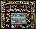 Derry Guildhall Tercentenary Window of The Honourable The Irish Society Detail Plaque 2019 08 29.jpg