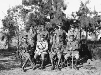 Richard Howard-Vyse - Brigadier-General Howard-Vyse, standing second right