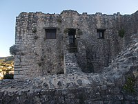 Detail of the south wing of the entrance at Kassiopi Castle.JPG