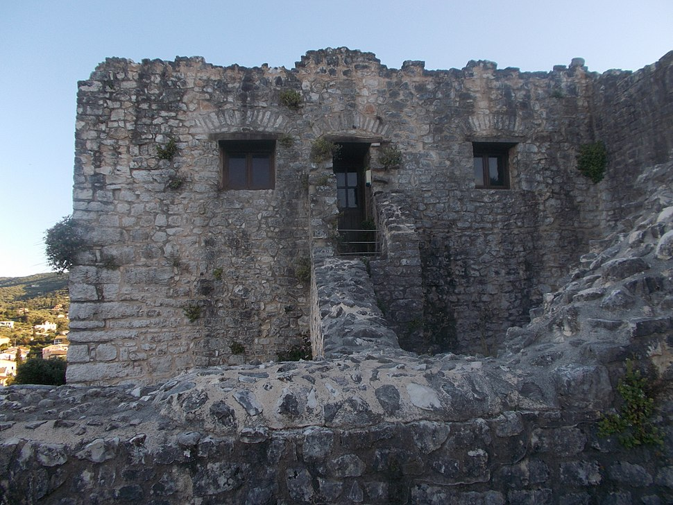 Detail of the south wing of the entrance at Kassiopi Castle