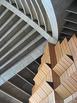Detalle interior ópera Sydney