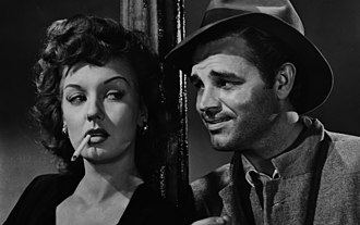 Detour (1945 film) - Ann Savage and Tom Neal