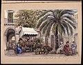 Devant l´hôtel de la Régence . Alger 25 mars 1886. Akvarell av Fritz von Dardel - Nordiska museet - NMA.0037612.jpg