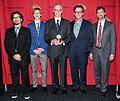 Devon Strolovitch, Erik Beith, Ben Manilla, Kurt Andersen, and David Krasnow, May 2013.jpg