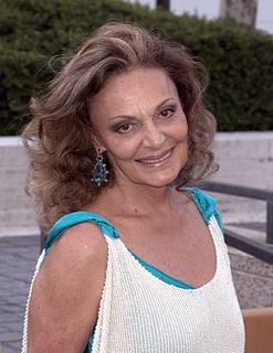 Diane von Fürstenberg Belgian born American fashion designer