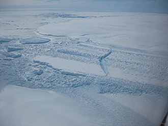 Wilkes Land - The ice front of Dibble Ice Shelf, a significant melt water producer from the Wilkes Land region, East Antarctica