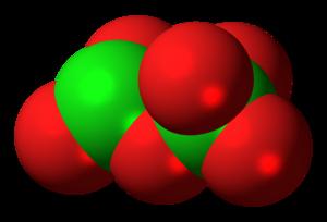 Dichlorine hexoxide - Image: Dichlorine hexoxide molecule spacefill