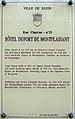 Dijon Hotel Duport de Montplaisant plaque information.jpg