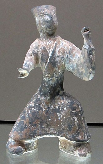 Fangxiangshi - Chinese Eastern Han dynasty (25-220 CE) tomb guardian figure identified as a Fangxiangshi