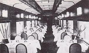 South Manchuria Railway - Dining car of South Manchuria Railway