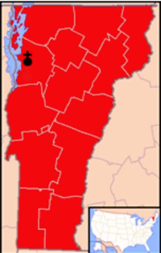 Roman Catholic Diocese of Burlington - Image: Diocese of Burlington map