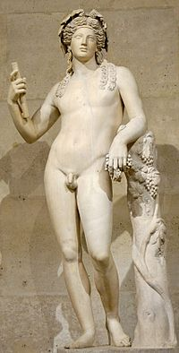 2nd century Roman statue of Dionysus, after a Hellenistic model (ex-coll. Cardinal Richelieu, Louvre)[1]