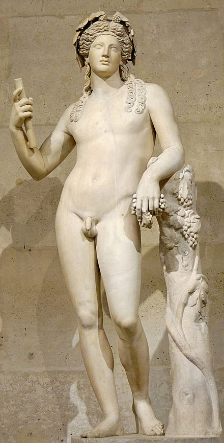 The Richelieu Bacchus continued to be admired by neoclassical artists, (Louvre Museum) Dionysos Louvre Ma87 n2.jpg