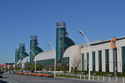Enercare Centre hosted broadcasting facilities for the Games. DirectEnergyCentre.jpg