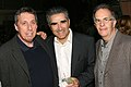 Director Ivan Reitman, actor Eugene Levy and producer Daniel Goldberg attend The Canadian Film Centre cocktail reception 2011.jpg